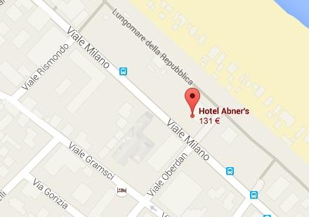 Hotel Abner's Mappa